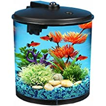 AquaView 2-Gallon 360 Fish Tank with Power Filter and LED Lighting
