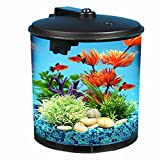 fish tanks starter kits - AquaView 2-Gallon 360 Fish Tank with Power Filter and LED Lighting