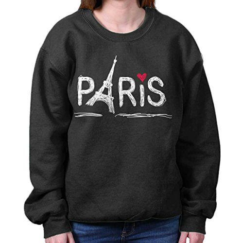 Brisco Brands Paris Eiffel Tower French Shirt | France Gift Idea Cute Cool Sweatshirt