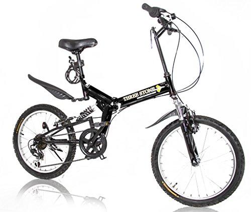 [해외] THREE STONE 접이식 자전거 20인치 시마노6 단변속 기어 풀 서스펜션 AJ-01 산악자전거/전후 (자동차 등의) 흙받이/LED프론트 라이트・와이어 그린정 서비스!/접는 자전거/MTB/손에 쥐는름차/PL보험