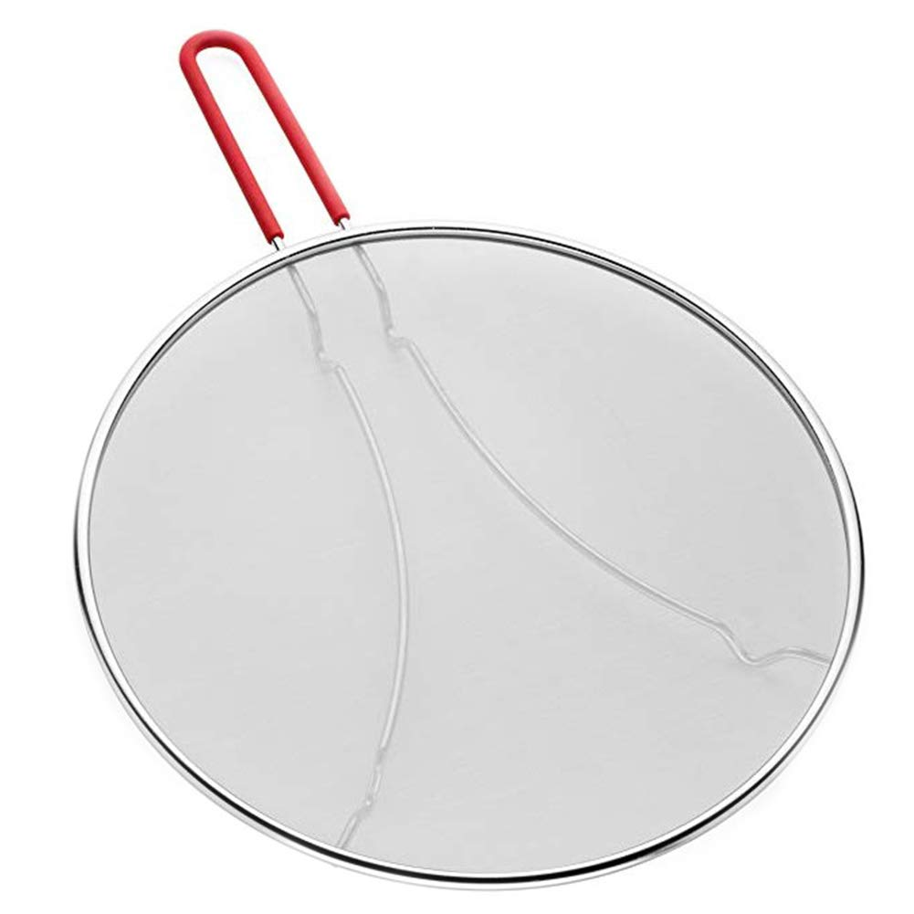 YAOBAO 13 Inch Grease Splatter Screen for Frying Pan - Stops 99% of Hot Oil Splash - Protects Skin from Burns - Stainless Steel Splatter Guard for Cooking,0.3Kg by YAOBAO