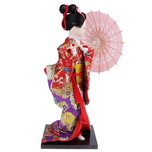 Homyl Japanese Traditional Doll Dance Kimono Ladies Dolls Ornaments Girl Birthday Gift Kids Toys Shown, 5 by Homyl