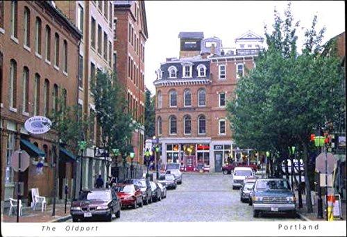 Maine Old Portland Port - The Old Port Portland, Maine Original Vintage Postcard
