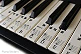 Music Keyboard or Piano Stickers 61 KEY SET learn to play faster clear plastic PS1C 61