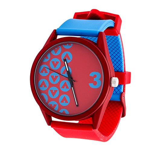 Airwalk Chinese-Automatic Watch with Silicone Strap, red (Model: AWW-5098-BL
