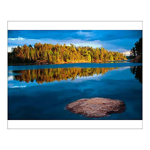 Media Storehouse 10x8 Print of Early Evening Reflections in The boundry Waters of Minnesota-Ontario (5784733) (Best Fishing Lakes In Quetico)