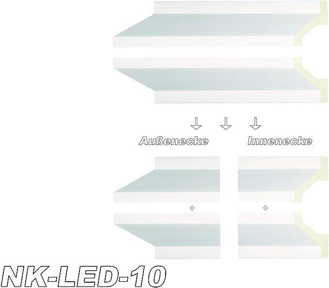 10 Meter PUTZPROFIL PVC Hexim Fugen Schnellputzprofil f/ür Innen und Au/ßen
