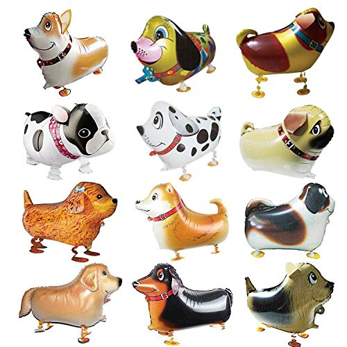 Walking Animal Balloons 12 Pieces Pet Dog Balloons Balloon Toys Air Walkers For Kids Gift Birthday Party Decor by Cool Bank ()