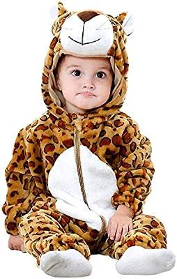 Disfraz de leopardo - felpa suave - forro polar - mono - mono ...