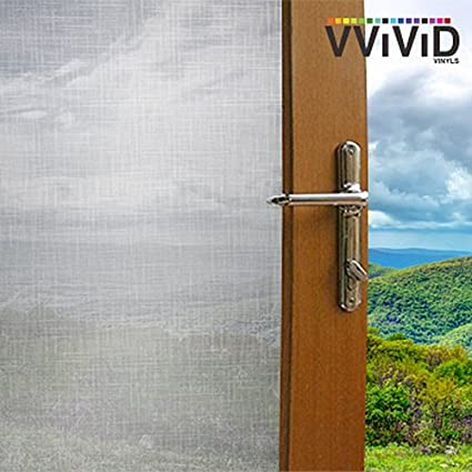 """36/"""" x 10ft VViViD Cross Hatch Frosted Privacy Window Vinyl Film Home Decor Glass"""