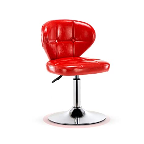 Groovy Amazon Com Continental Red Bar Chair With Leatherette Machost Co Dining Chair Design Ideas Machostcouk