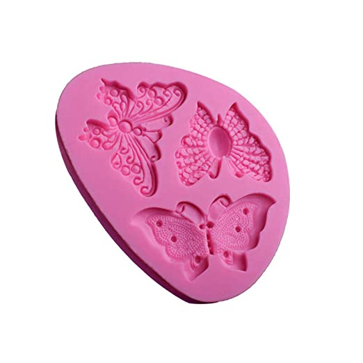 Amazon.com: Gessppo Cake Mold Butterfly Shape Silicone Mould Fondant Decorating Bakeware for Bread Chocolate Cookie Jelly Biscuit Candy Mould Kitchen Tool: ...