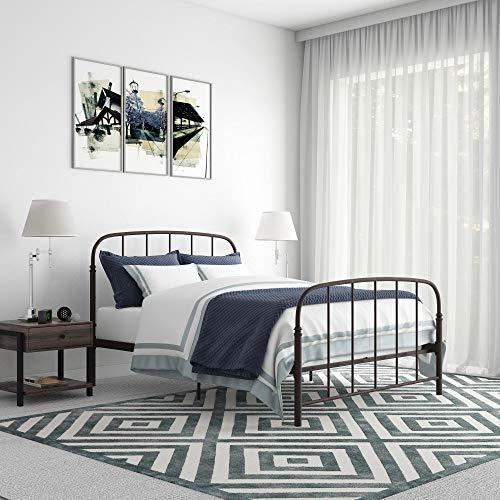 - DHP Lafayette Metal Bed, Bronze, Queen