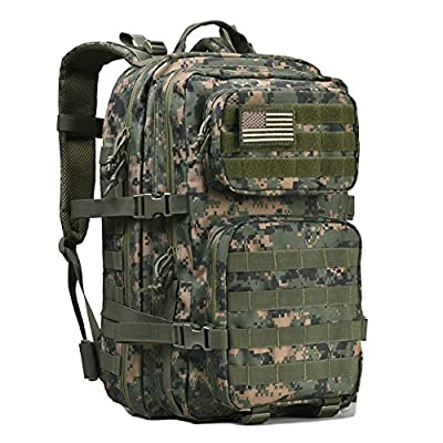Military Tactical Backpack Large Army 3 Day Assault Pack Molle Bug Out Bag Backpack Rucksacks for Outdoor Hunting Hiking Camping Trekking Woodland Digital Camouflage