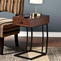 Porten Side Table in Walnut Finish