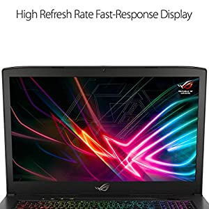 """ASUS ROG Strix Scar Edition GL703GS-DS74 17.3"""" Gaming Laptop, 8th-Gen 6-Core Intel Core i7-8750H Processor (up to 3.9GHz), GTX 1070 8GB, 144Hz 3ms Display, 16GB DDR4, 256GB PCIe SSD + 1TB FireCuda"""