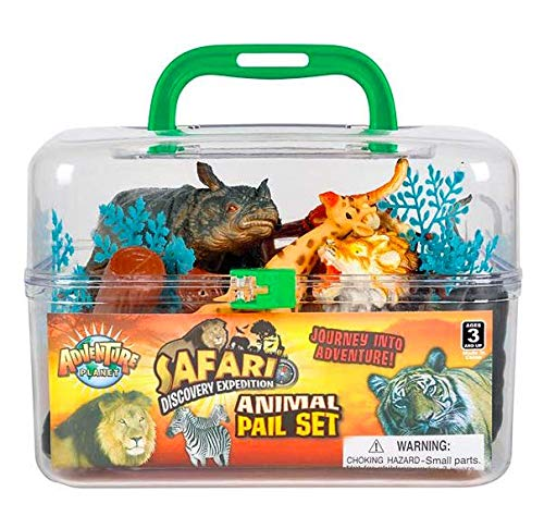(Adventure Planet Wild Animals Set with Carrying Case,)