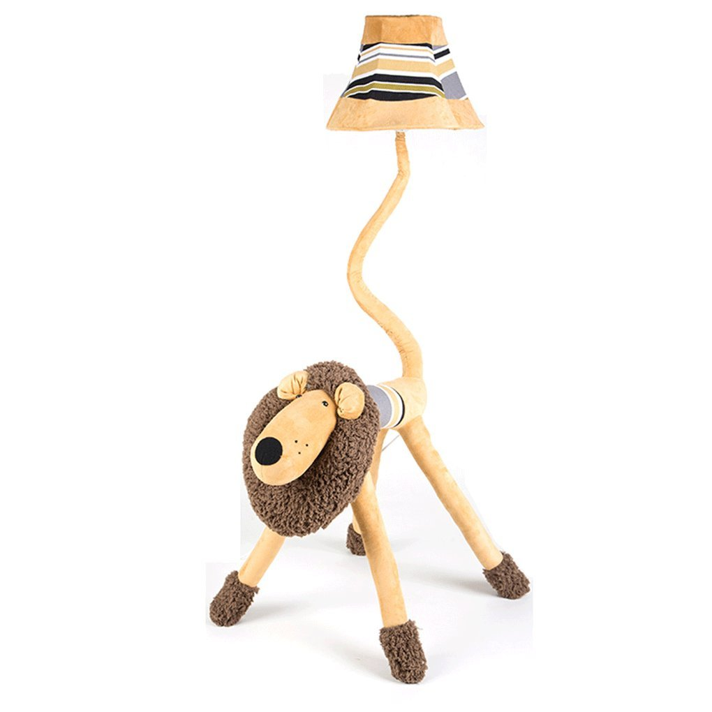 Edge To Children's Cartoon Lion Lovely Floor Lamp Creative Personality Lighting Bedroom Floor Lamp Desk Study Living Room Vertical Table Lamp