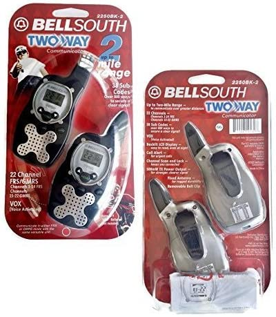 Bell South Two-way FRS GMRS Set of 2 – 2250-BK-2