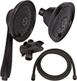 Massage & Mist Shower Head Combo - Great High Pressure, Adjustable Hand Held & Fixed Showerheads With Hose & Diverter - Indoor And Outdoor Modern Bath Spa Fixture - Oil-Rubbed Bronze