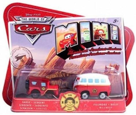 Disney Cars mini para vehículos para niños Sergent y Bully 2 Pack ...