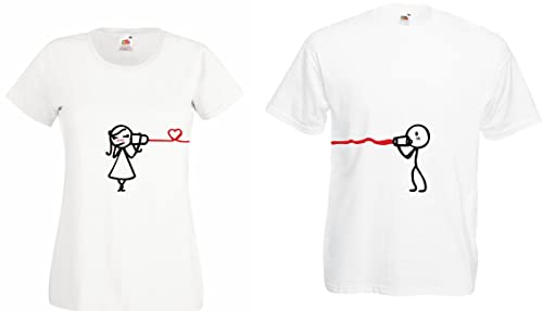 TRVPPY Pareja 2x Camiseta T-Shirt / Modelo HEARING THE LOVE / para Hombre & Mujer /en muchos color...