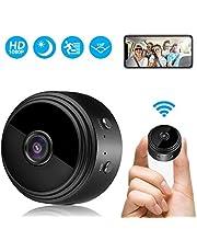 Mini Kamera, FHD 1080P Überwachungskamera Aussen WLAN WiFi Kleine Tragbare Drahtlose Home Security Überwachung Kleine Kamera mit Nachtsicht, Bewegungserkennung, Remote View