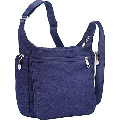 eBags Piazza Daybag 2.0 with RFID Security - Small Satchel Crossbody for Travel, Work, Business - (Brushed ()