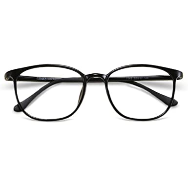 5200694320 VEVESMUNDO Vintage Eyeglasses Women Men Flexible Lightweight Frame Large  Round Lens with Hard Eyewear Glasses Case