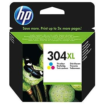 Cartucho HP 304 XL Color Original para HP DeskJet 3720 3730 3732 N9 K07ae 304 x LC capacita 300 páginas