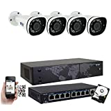 GW 8 Channel 8MP UltraHD 4K (3840×2160) Audio & Video Motorized Zoom Home NVR Security System – 4 x Bullet 8 Megapixel 2.8-8mm 3X Optical Zoom Waterproof IP PoE Cameras Built-in Microphone Review