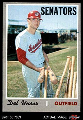- 1970 Topps # 336 Del Unser Washington Senators (Baseball Card) Dean's Cards 3 - VG Senators