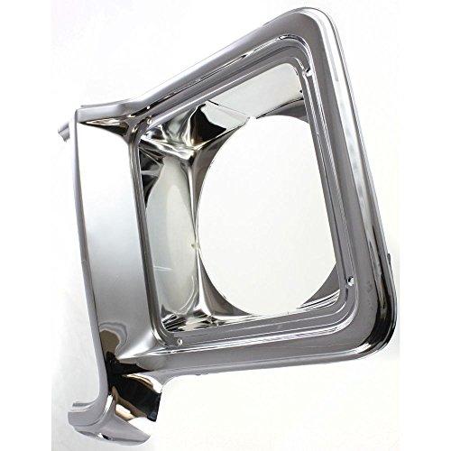 Diften 168-C4016-X01 - New Headlight Door/Bezel Passenger Right Side Chrome Blazer Full Size Truck RH (Right Suburban New Chrome Door)