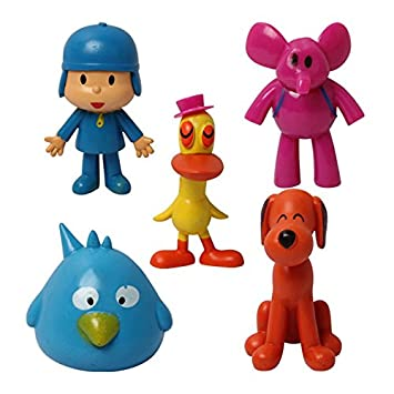 5pcs/set Cartoon Pocoyo Elly Loula Pato Sleepy Bird PVC Action Figures Toys Dolls JL085