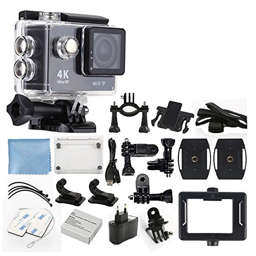 Ultra HD 4K 12MP with WiFi Action Camera (Black) - 1