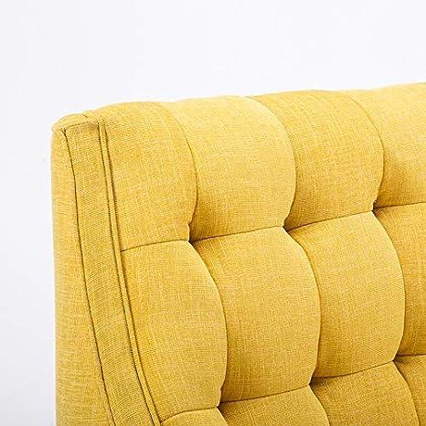 Yellow Warmiehomy Modern Chenille Fabric Armchair Oversized