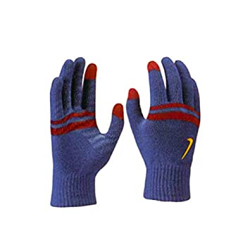05cd92ee47ac Nike Tech Touch Grip Mens Cold Weather Winter Gloves Knitted Unisex  (Blue Red