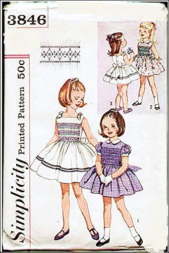 Simplicity 3846 - Vestido de fiesta para niña con estampado de ...