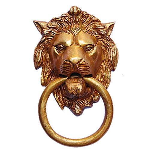 Aakrati Lion Face Door Knocker Brown