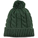 The Hat Depot Winter Thick and Warm Pom Pom Fleece