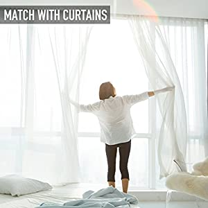 """Beautiful Sheer Curtains Draperie white Rod Pocket 2 Panels -95"""" Inch Long"""