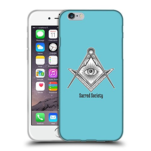 GoGoMobile Coque de Protection TPU Silicone Case pour // Q09630627 Carré maçonnique 2 Cyan // Apple iPhone 6 PLUS 5.5""
