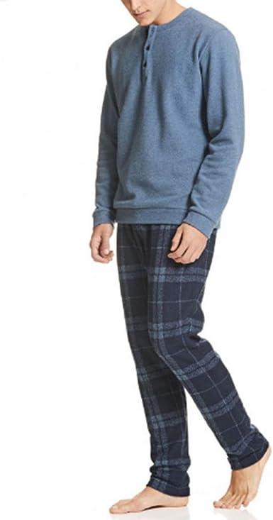 Ragno - Pijama de Invierno para Hombre, Punto Milano, Modelo Serafino U066N1