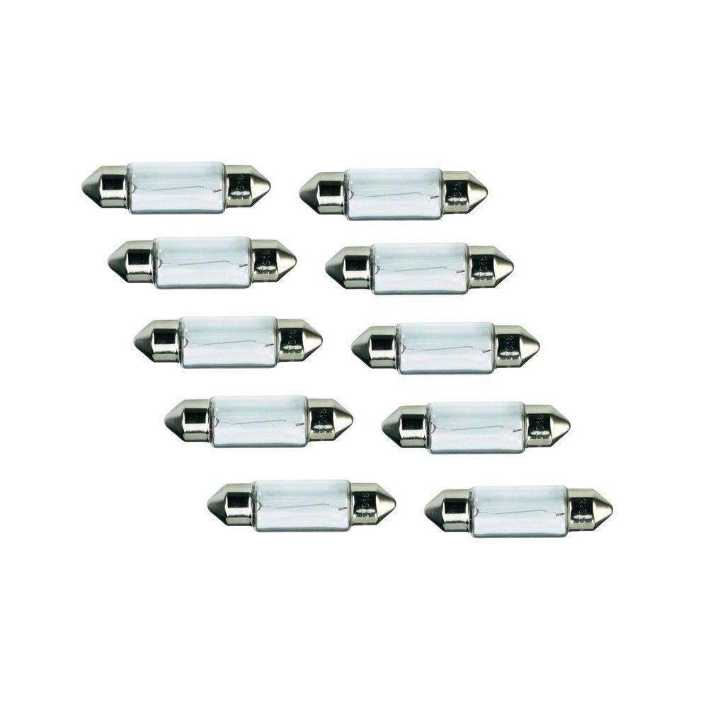 10er Set BREHMA Soffitte 12V 5W C5W SV8,5 37mm