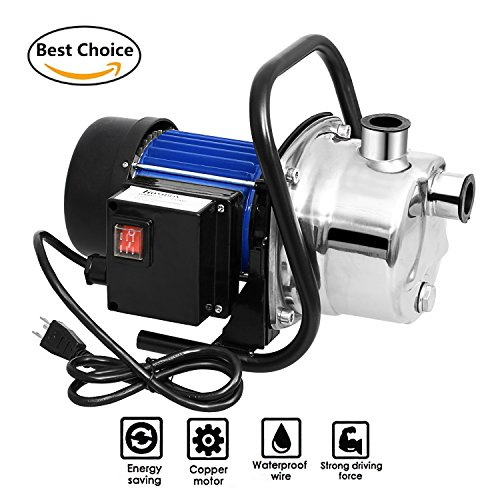 Meditool 1.6HP Shallow Well Pump Stainless Booster Pump Lawn Water Pump Electric Water Transfer Home Garden Irrigation (Lawn Sprinkler Pump)