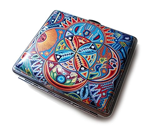 Mexican Art Cigarette Case Card Holder Wallet Banknote Cigarettes