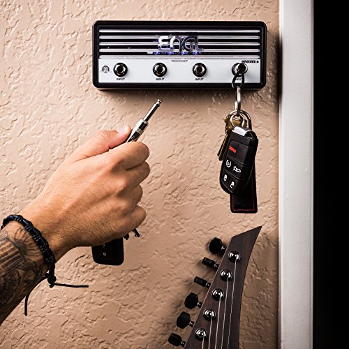 r Amp Key Holder | Hang Your Keys Like A Rockstar | By Pluginz Key Chains (Invader & 4 Key Rings) (Jack Rack)