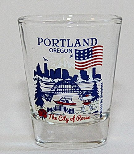 Portland Oregon Great American Cities Collection Shot - Portland Glasses