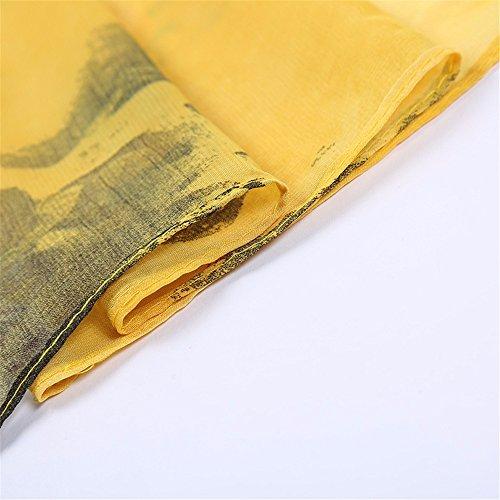 FLYRCX et lady doux D 160cmx50cm longtemps mousseline léger dame imprimée châle crème confortable RrgxRv
