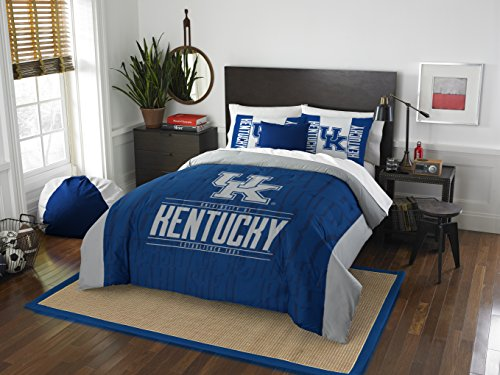 The Northwest Company Officially Licensed NCAA Kentucky Wilcats Modern Take Full/Queen Comforter and 2 Sham Set